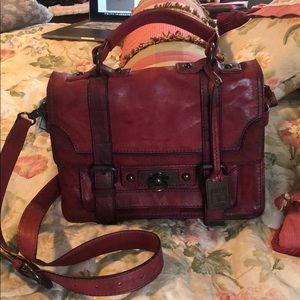 Frye crossbody red bag
